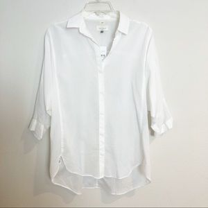 NWT LOFT SOFTENED BUTTON DOWN TOP S